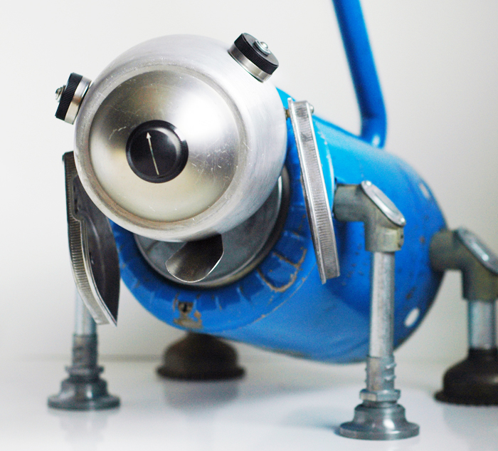 blue robot dog
